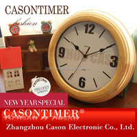 Hand Carved Handmade Classical Wooden Mechanical Wall Clock