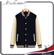 varsity jacket with contrast color fashion from Guangzhou China factory