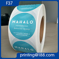 Plastic Round Sticker Adhesive Paper Round Label Sticker Custom Printed Round Product Sticker