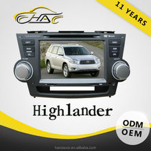 car GPS navigation system for Toyota 2015 highlander car DVD player