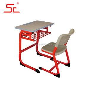 Single school desk and chair student desk used student furniture
