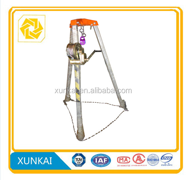 Automatic Brake Lifting Rescue Tripod Life saving Equipment
