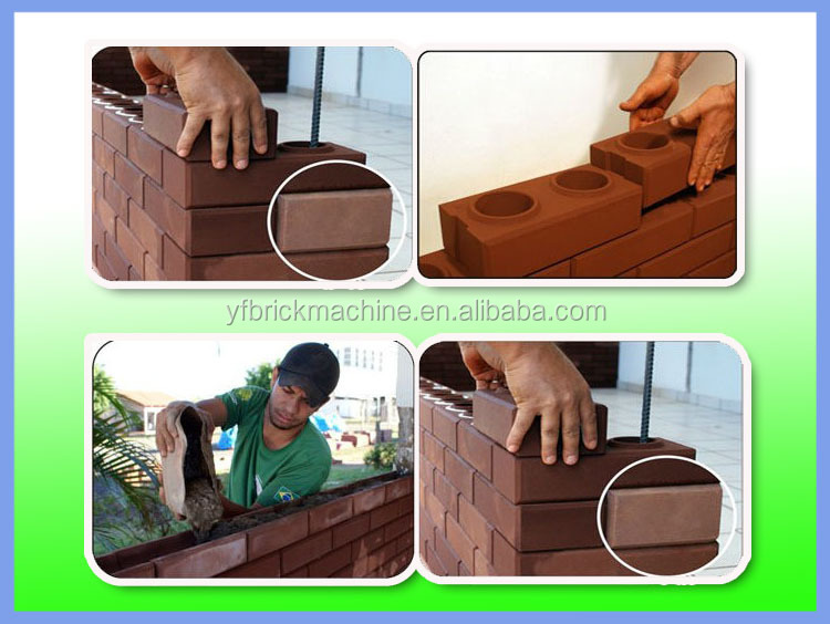 From China Yingfeng YF1-20 Clay/soil brick moulding machine