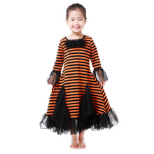 New Arrival Halloween Costume Long Stype Stripe Girls Dress Names with Pictures
