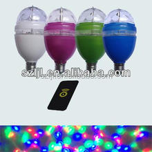 9W RGB LED Full Color Rotating bulb Lamp with Remote(CE&RoHS Compliant)