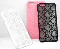 New stylish hot selling high quality hard plastic PC case with emboss finished for iPhone 6 4.7''