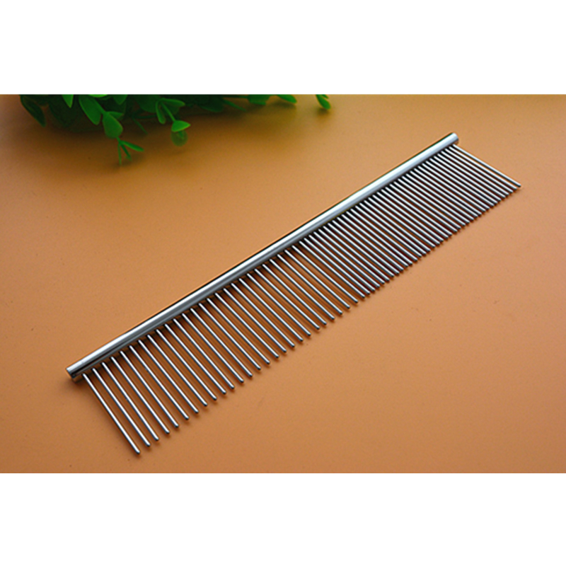 Supplies New Stainless Steel Pet Comb Good Dog Grooming Rake Brush