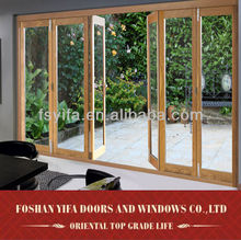 china alibaba supplier aluminum glass entrance door folding for sale