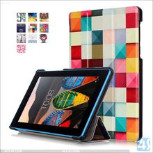 For Lenovo Tab 3 cover patterned pu leather, cool tablet pc cover for Lenovo