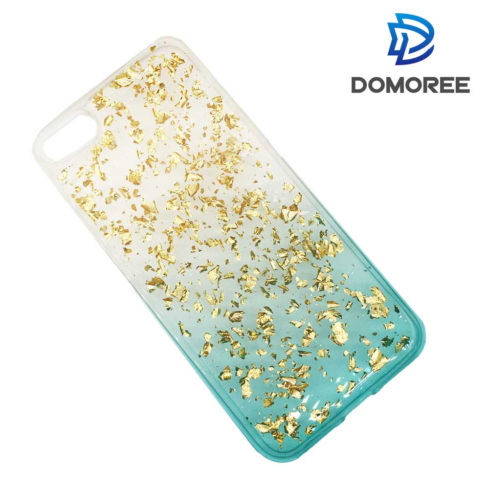 2017 Custom transparent bling soft tpu paillette cellphone case for iphone 6 7