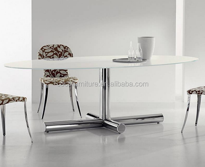 Glass top Dining Table CC-DT05#