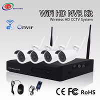 Security System 1MP Wifi IP Camera Outdoor Video Camera 4CH Wireless NVR Kit CCTV Wireless Camera Complete Set
