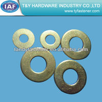 zinc yellow plated flat washer din7989