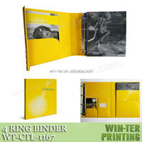 WT-CTL-1167 3 panel 4 ring binder with inner pockets glue