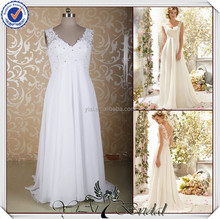 JJ3663 Beach Chiffon cowl back pictures of wedding dresses for pregnant women