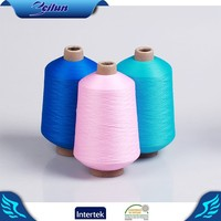 75 36 dope dyed dty polyester twisted yarn in plastic cones for export