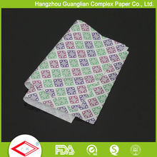 wholesale food grade Burger Wrap food grade greaseproof paper for burger wrapping