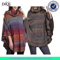 Italian fashion clothes women poncho sweater,italian ladies clothes,italian clothes