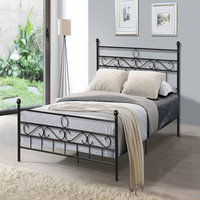 Simple design wholesaler furniture Black King metal Bed