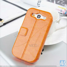 wholesale cell phone case Leather Flip Wallet Case with Credit/ID Card Slot for Samsung galaxy S3 P-SAMI9300CASE035