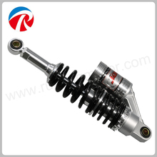 Motorcycle rear shock absorber with double spring