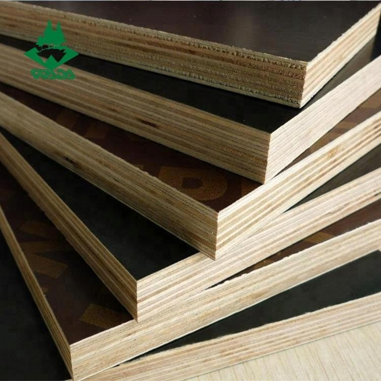 18mm Black/brown Melamine/phenolic Film Faced Plywood For Construction Use  - Buy Film Faced Plywood,Formwork Shuttering Plywood,Wbp Formwork Plywood
