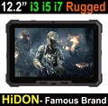 HIDON Cheapest Factory 12.2 inch Intel Core i3-6100U rugged tablets windows10 or windows7 OS LINUX OS 4GB+128GB SSD 12000mAh