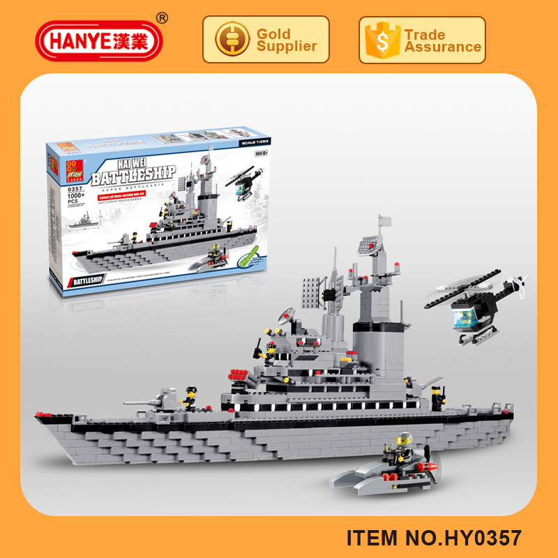 HY0357 Kids hot product HAIWEI battle ship big scale building blocks
