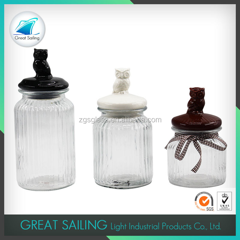 Decorative Glass Storage Jars And Lids