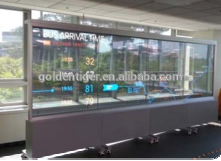 Fixed on window OLED touch screen high transparency transparent display screen 3G wifi for sale.