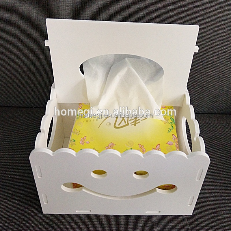 Box Tissue Holder Cover Paper Home Car Napkin Decor Case Rectangle