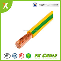 PVC insulated single core copper conductor 16mm grounding cable