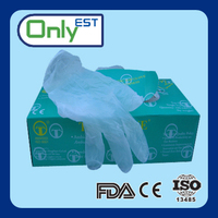 Powder free disposable dirt resistant blue painting vinyl glove