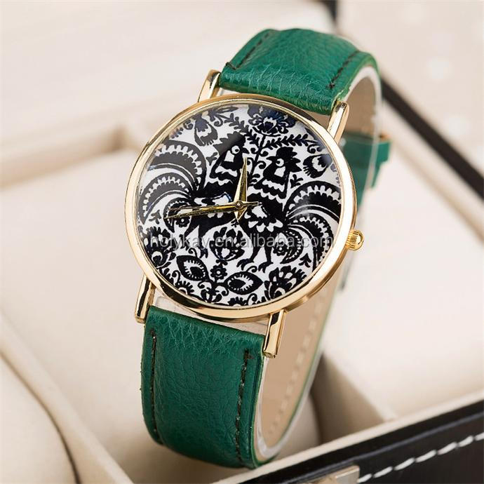 2014 new products fashion Chinese paper cutting couple lover leather wrist watch