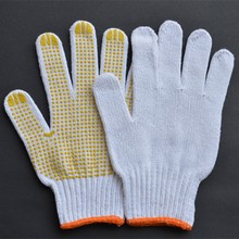 55g-60g comfortable pvc dotted cotton gloves/industrial use/sales well