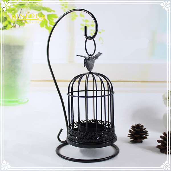 antique bird cage metal home decorative hanging candle holder