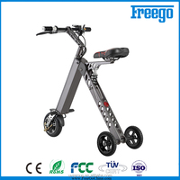 Electric drift trike freego 3 wheel floding e-bike,cheap adult tricycle