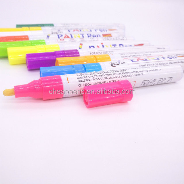 Car Moto Auto Permanent Tyre Tread Rubber white ink color Marker Paint Pen Waterproof