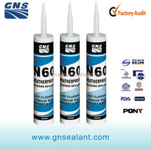 N60 weatherproof silicone sealant for windows and doors perimeter joints and vinyl windows and PVC and UPVC windows