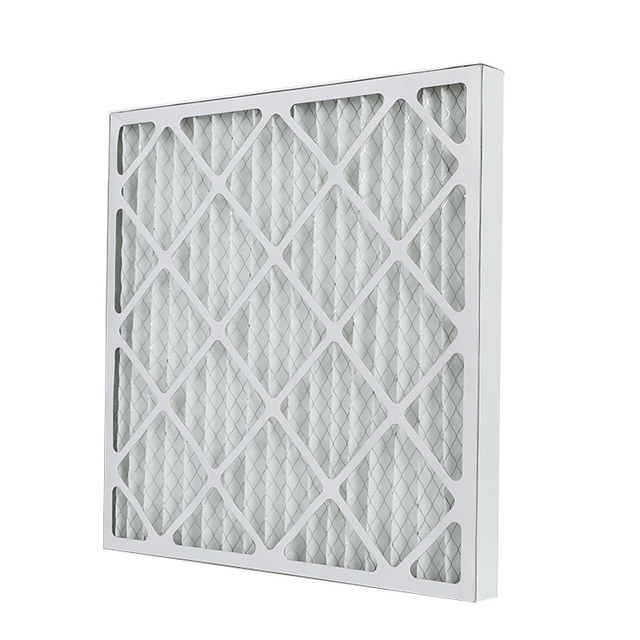 Customized sizes paper frame pleated air filter