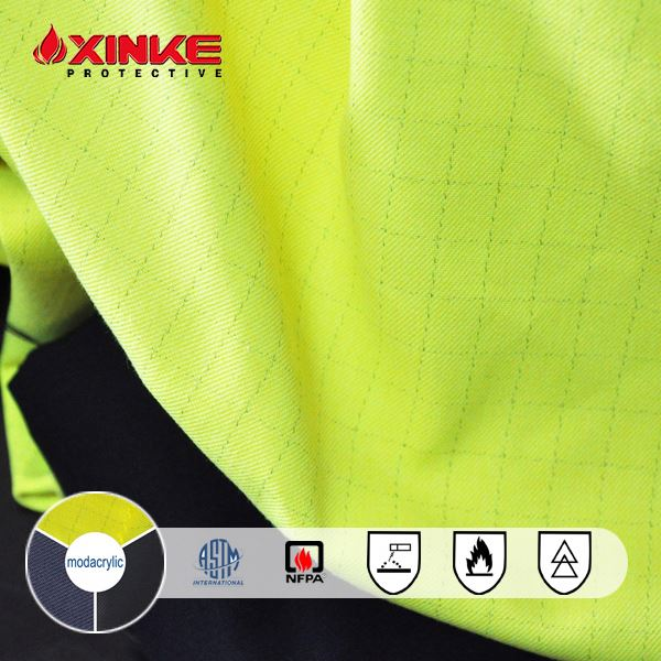 Permanent Flame Retardant Protex Modacrylic Twill Fabric for workwear