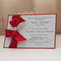 2014 Royal white Blank Invitation Cards