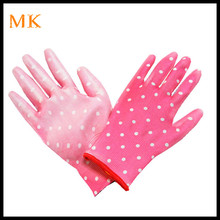 Static resistant colorful PU coated electronics operation work gloves