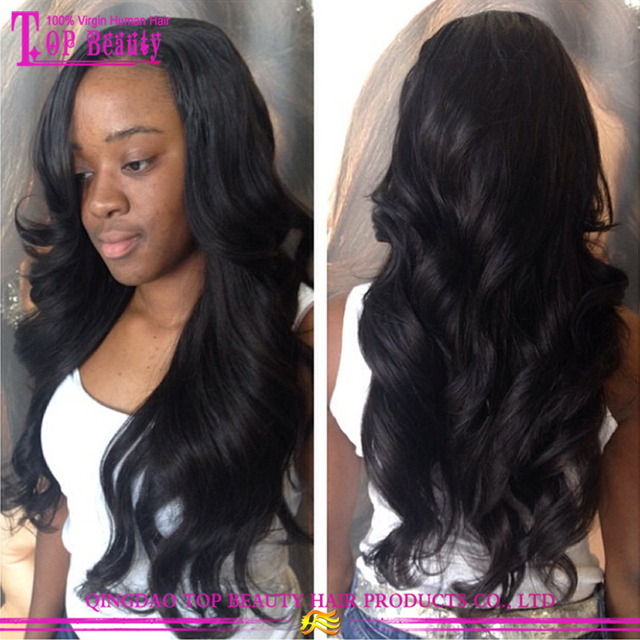 Hot sale cheap virgin indian remy full lace wig body wave indian long hair wig