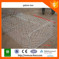 galvanized and PVC coated hexagonal mesh gabion box (professional manufacturer)
