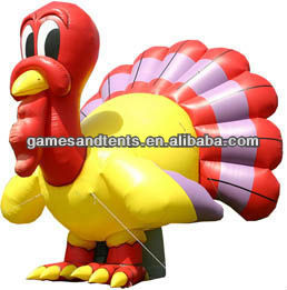 Publicidad pavo inflable, globo inflable gigante globos F1027