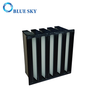 V-bank Filter for Heating Ventilation and Air Conditioning