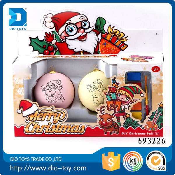 hot new products for 2016 drawing ball toys christmas decoration ball funny toys for kids