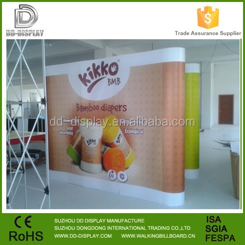 4*3 straight fabric backdrop display