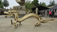 Best quality hot selling bronze chinese bearded dragon statue
